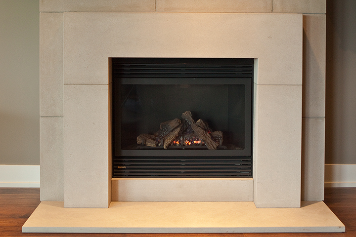 - Stone Fireplace Surround Bedrock Natural Stone