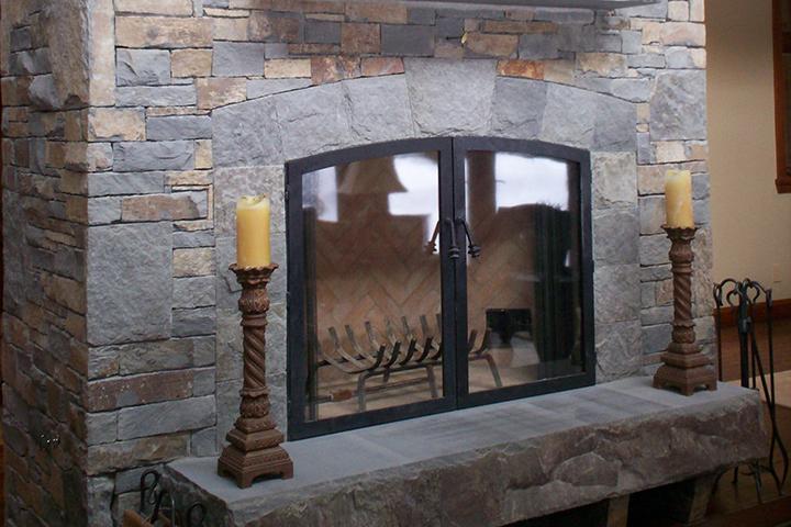stone fireplace surround - Stone Fireplace Surround