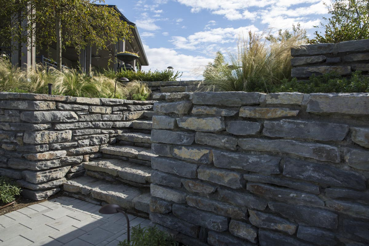 Stone By Stone : Basalt stone steps natural