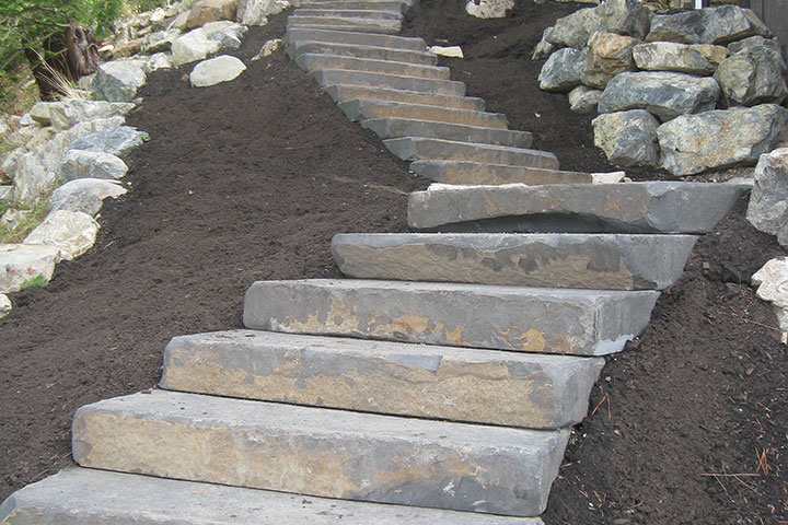 Cambrian Basalt Steps Stone Risers
