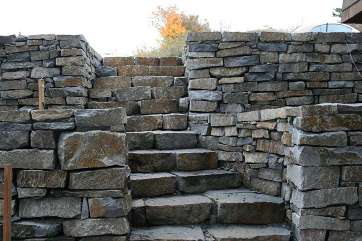Basalt And Granite : Basalt stone steps natural