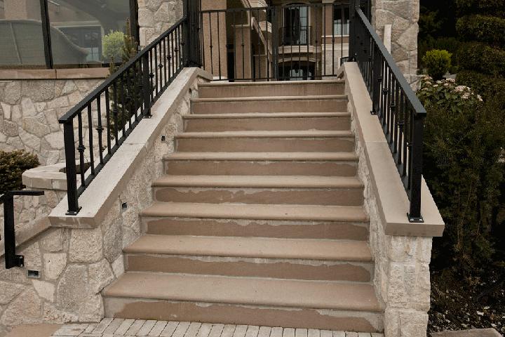 Country Estate Limestone Steps