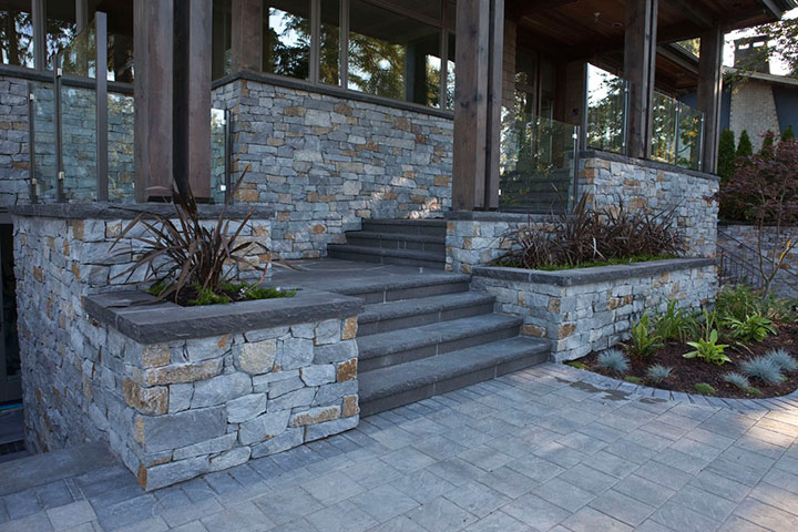 Basalt Coping And Pillar Caps Landscpaing