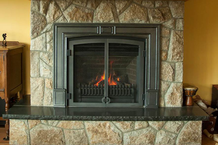 100 Stacked Stone Fireplace Cost When You Convert A Gas Stone Wall With Fireplace Stone