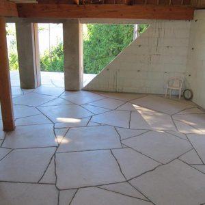 Limestone random paving