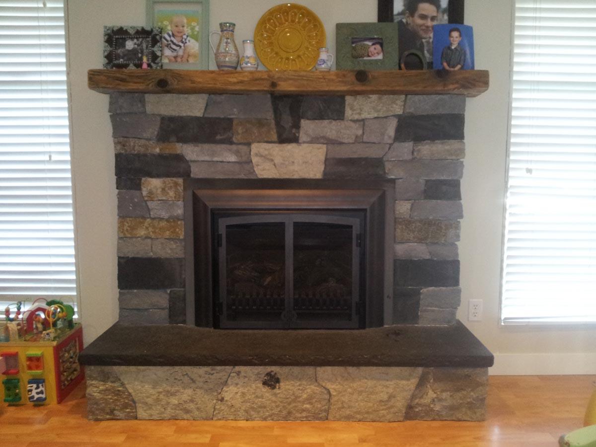 Stone Fireplace Surround Bedrock Natural Stone