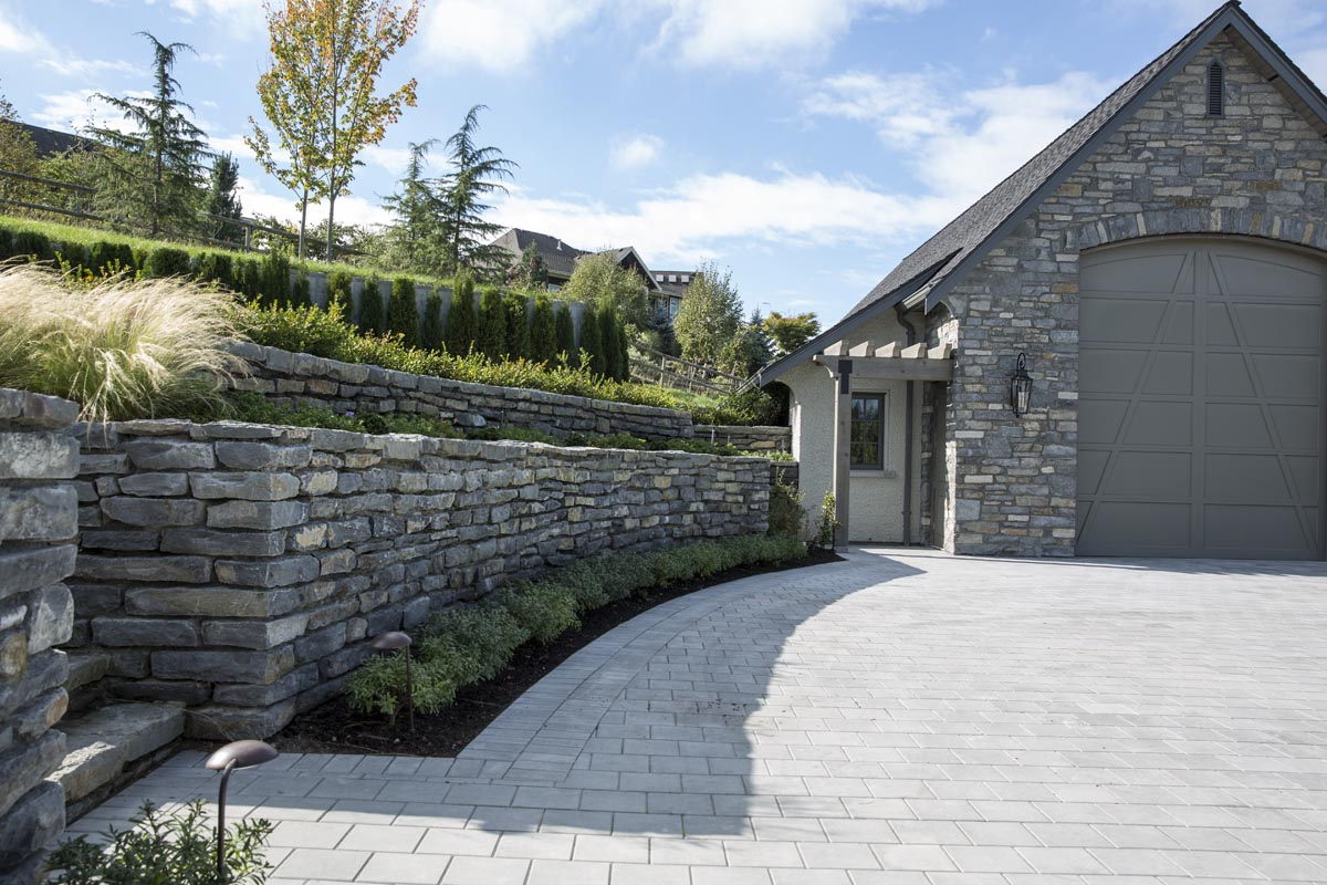 Basalt Stone Wall : Whistler basalt wall stone bedrock natural